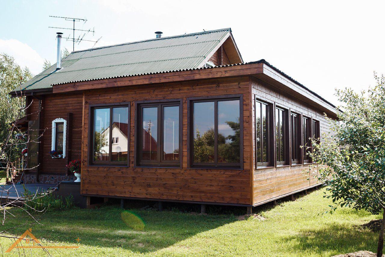 проект закрытой веранды к деревянному дому
